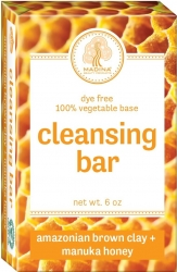 View Buying Options For The Amazonian Brown Clay + Manuka Honey Dye Free Cleansing Bar Soap