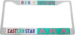 View Buying Options For The Eastern Star + Alpha Kappa Alpha Split License Plate Frame