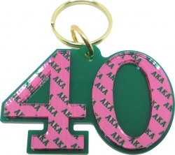 View Buying Options For The Alpha Kappa Alpha Color Mirror Line #40 Keychain