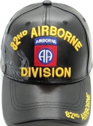 View Buying Options For The 82nd Airborne Division Shadow Vinyl Leather Mens Cap