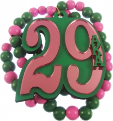 View Buying Options For The Alpha Kappa Alpha Line #29 Mirror Wood Color Bead Tiki Necklace