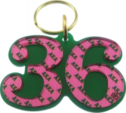 View Buying Options For The Alpha Kappa Alpha Color Mirror Line #36 Keychain