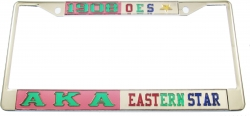 View Buying Options For The Alpha Kappa Alpha + Eastern Star Split License Plate Frame