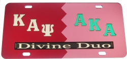View Buying Options For The Kappa Alpha Psi + Alpha Kappa Alpha Divine Duo Split License Plate