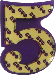 View Buying Options For The Omega Psi Phi Acrylic Line #5 Mirror Lapel Pin