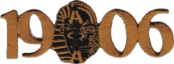 View Buying Options For The Alpha Phi Alpha 1906 Sphinx/Ape Mascot Iron-On Patch