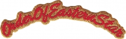 View Buying Options For The Eastern Star Script Mini Rocker Iron-On Patch
