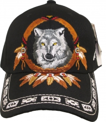 View Buying Options For The Native Pride Wolf Dreamcatcher Shadow Mens Cap