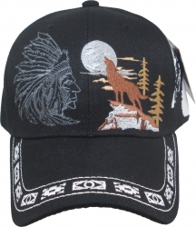 View Buying Options For The Native Pride Wolf Moon Shadow Mens Cap