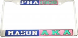 View Buying Options For The Mason PHA + Alpha Kappa Alpha Split License Plate Frame