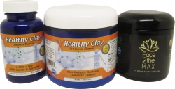 View Buying Options For The MineCeuticals Healthy Oregon Blue Clay Capsules & Bath Powder & Face2theMAX Pack
