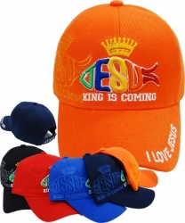 View Buying Options For The King Is Coming Jesus Fish Shadow Mens Cap