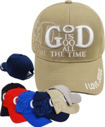 View Buying Options For The God Is Good All The Time Shadow Mens Cap