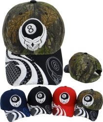 View Buying Options For The 8 Ball Skull Mens Cap