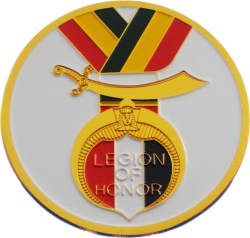 View Buying Options For The Legion of Honor Symbol Round Car Emblem