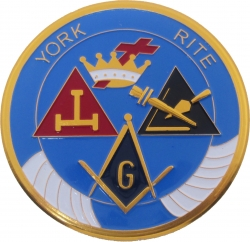 View Buying Options For The York Rite Symbols Round Car Emblem
