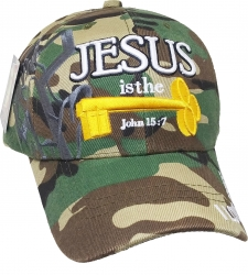View Buying Options For The Jesus Is The Key John 15:7 Shadow Mens Cap