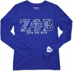 View Buying Options For The Big Boy Zeta Phi Beta Divine 9 S2 Long Sleeve Ladies Tee