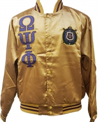 View Buying Options For The Buffalo Dallas Omega Psi Phi Fraternity Mens Satin Jacket