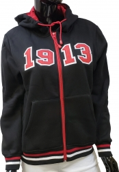 View Buying Options For The Buffalo Dallas Delta Sigma Theta 1913 Applique Zip Up Ladies Hoodie