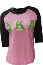 View Buying Options For The Buffalo Dallas Alpha Kappa Alpha Applique Ladies Baseball Tee