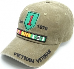 View Buying Options For The 1st Infantry Vietnam Veteran Pigment Washed Cotton Mens Cap