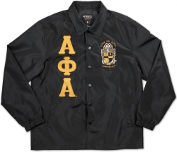 View Buying Options For The Big Boy Alpha Phi Alpha Divine 9 Waterproof Mens Coach/Line Jacket