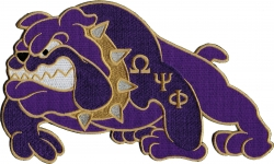View Buying Options For The Omega Psi Phi Bulldog Iron-On Patch