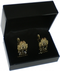 View Buying Options For The Alpha Phi Alpha Shield Drop Letter Mens Cuff Links