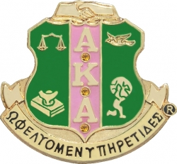 View Buying Options For The Alpha Kappa Alpha Crystal Crest Lapel Pin