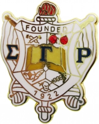 View Buying Options For The Sigma Gamma Rho Crystal Crest Lapel Pin