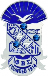 View Buying Options For The Phi Beta Sigma Crystal Stones Shield Lapel Pin