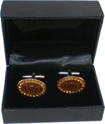 View Buying Options For The Iota Phi Theta Crystal Oval Mens Cuff Links