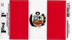 View Buying Options For The Peru Flag Car Decal Sticker [Pre-Pack]