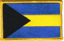 View Buying Options For The Bahamas Flag Iron-On Patch [Pre-Pack]
