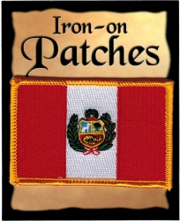 View Buying Options For The Peru Flag Iron-On Patch [Pre-Pack]