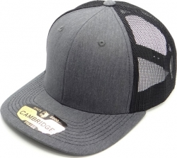 View Buying Options For The Cambridge Plain Heather Gray Mesh Trucker Mens Cap