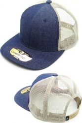 View Buying Options For The Cambridge Plain Denim Mesh Trucker Mens Cap