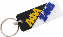 View Buying Options For The Alpha Phi Alpha + Zeta Phi Beta Mirror Split Keychain