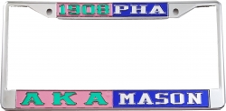 View Buying Options For The Alpha Kappa Alpha + Mason PHA Split License Plate Frame