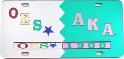 View Buying Options For The Eastern Star + Alpha Kappa Alpha Split Mirror License Plate