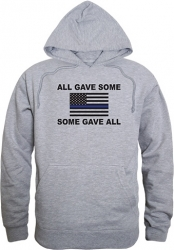 View Buying Options For The RapDom All Gave Some Thin Blue Line Flag Graphic Mens Pullover Hoodie