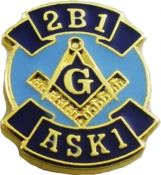 View Buying Options For The Mason Blue House Symbol 2B1 ASK1 Lapel Pin