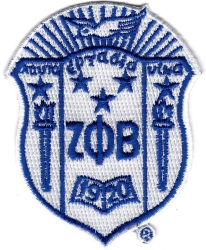 View Buying Options For The Zeta Phi Beta Crest Iron-On Patch