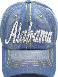 View Buying Options For The Alabama Rhinestone Bling Text Stitch Denim Ladies Cap