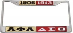 View Buying Options For The Alpha Phi Alpha + Delta Sigma Theta Split License Plate Frame