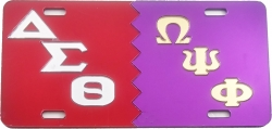 View Buying Options For The Delta Sigma Theta + Omega Psi Phi Split Mirror License Plate