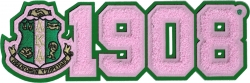 View Buying Options For The Alpha Kappa Alpha Crest 1908 Chenille Sew-On Patch