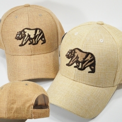 View Buying Options For The California Bear Linen Style Mens Cap