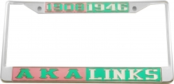 View Buying Options For The Alpha Kappa Alpha + Links Split License Plate Frame